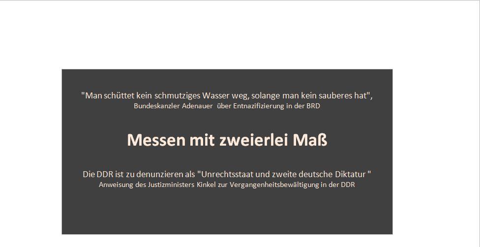 Konserviertes Nazirecht und Stasikeule